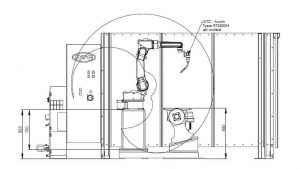 Suvirinimo robotas OTC Daihen. 8 ašių suvirnimo sistema