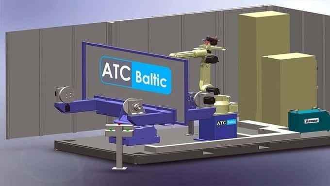 Welding robot OTC DAIHEN. 7 axes welding system with manipulator OTC DR-4200L